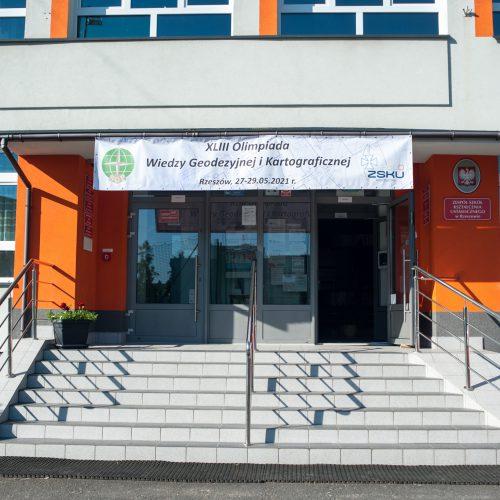 XLIII Olimpiada Wiedzy Geodezyjnej i Kartograficznej w Rzeszowie (27-29.05.2021r). Autor: Andrzej Fluda